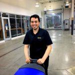 Gerson Scrubbing Service Drive with walk behind scrubber