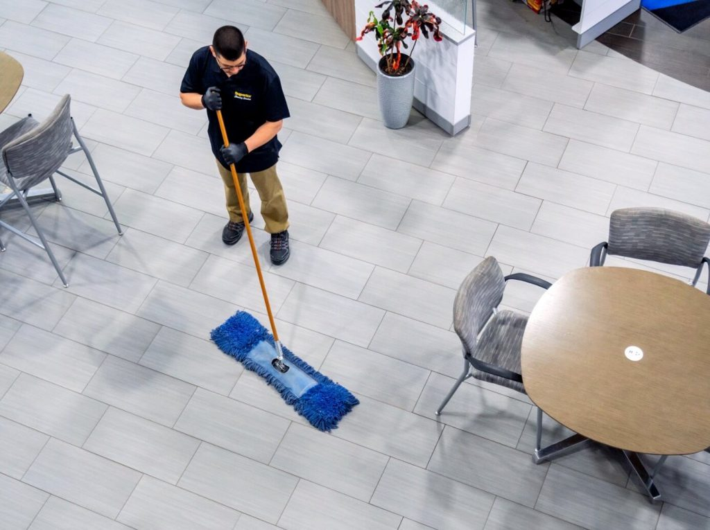 Guadalupe-sweeping-showroom