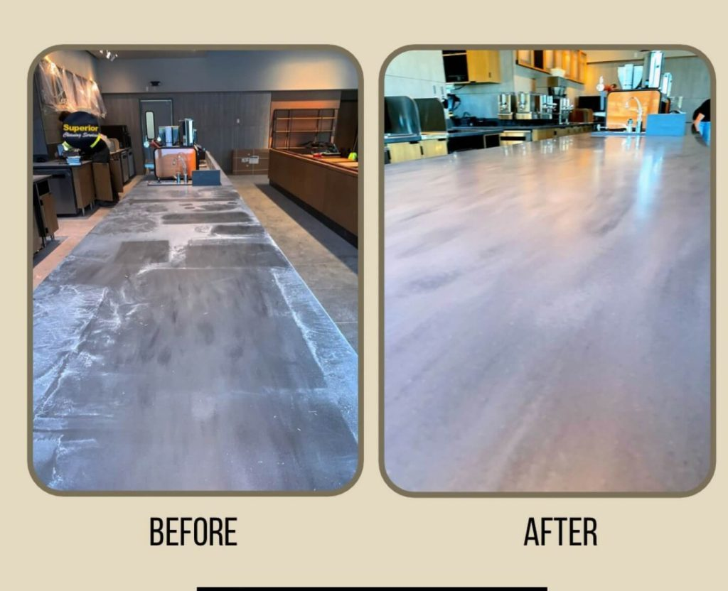 Construction cleaning of restaurant