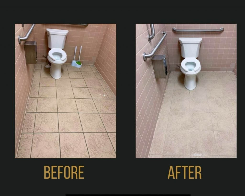 Bathroom touch free deep cleaning