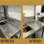 Kitchen construction cleaning before and after