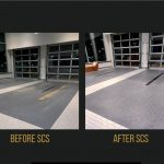 Delivery Area before and after floor scrubbing