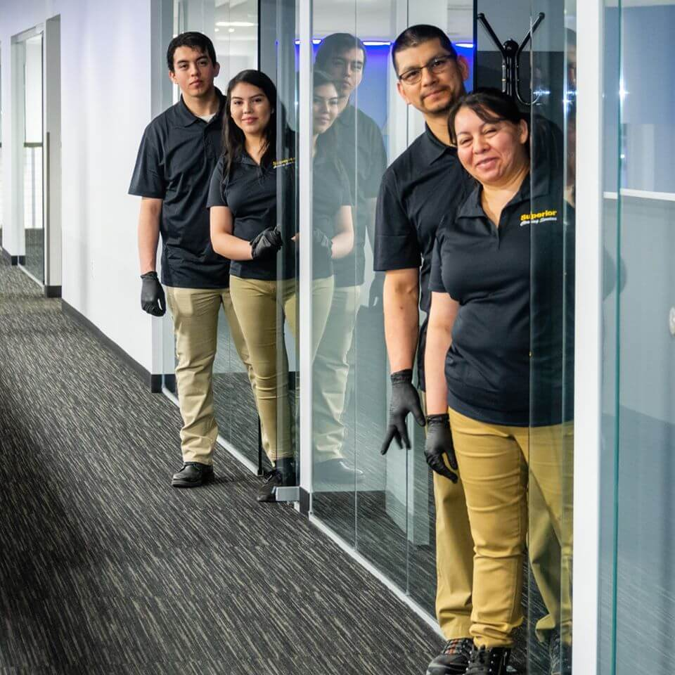Superior Team posing outside office